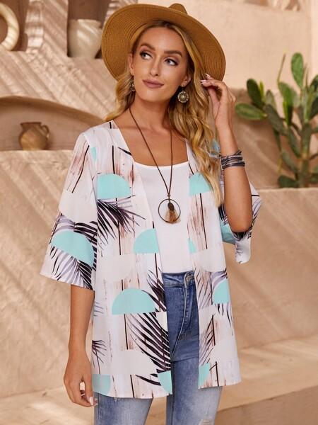 Allover Print Kimono