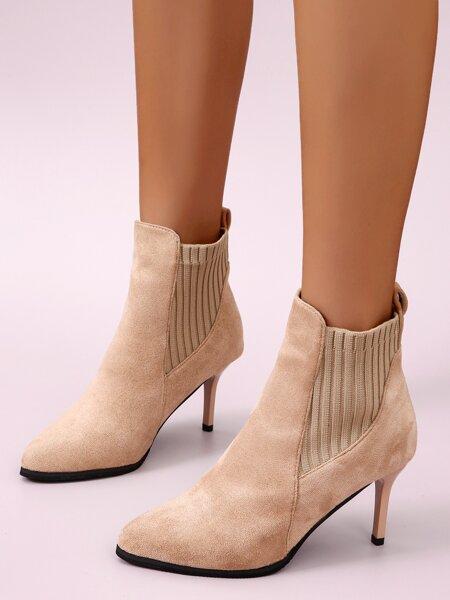 Slip On Stiletto Boots