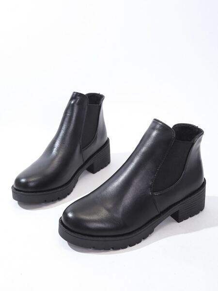 Minimalist Chunky Chelsea Boots
