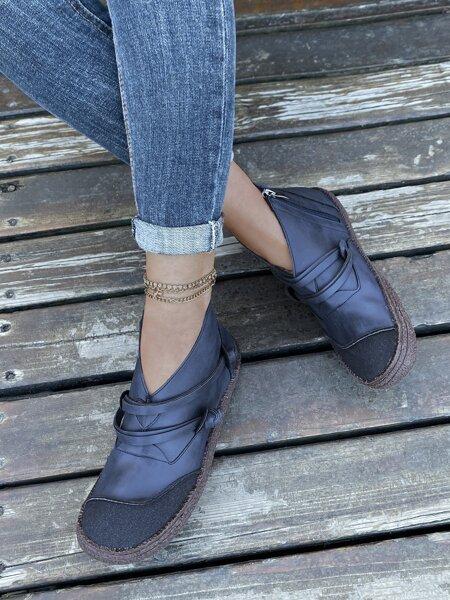Knot Decor Side Zipper Boots