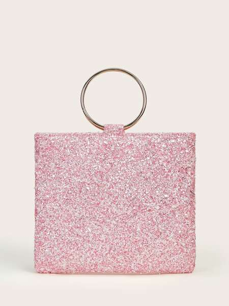 Ring Handle Clutch Bag