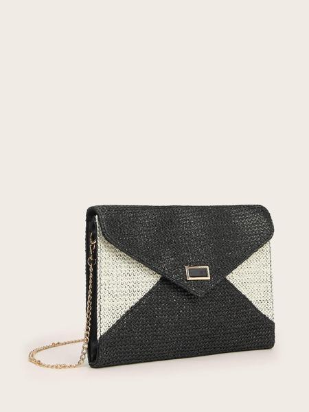 Color Block Straw Bag