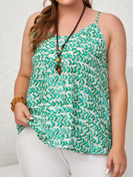 Plus All Over Print Cami Top
