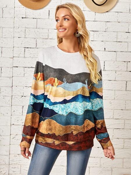 Colorblock Raglan Sleeve Pullover