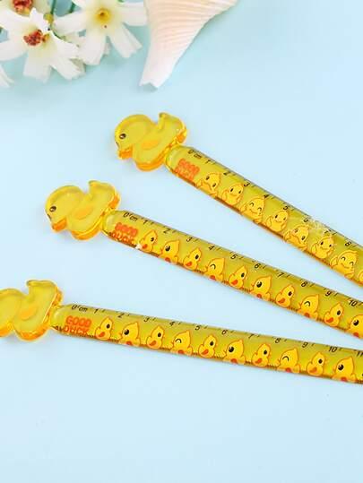 1pc Random Cartoon Duck Ruler