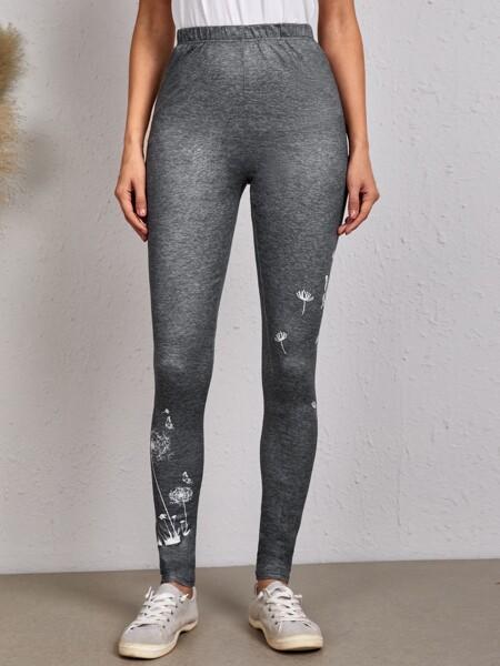 Dandelion Print Leggings