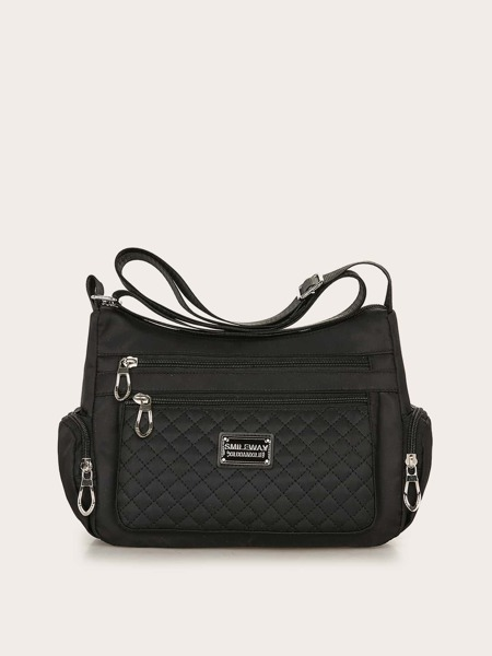 Minimalist Quilted Multiple Compartment Crossbody Bag