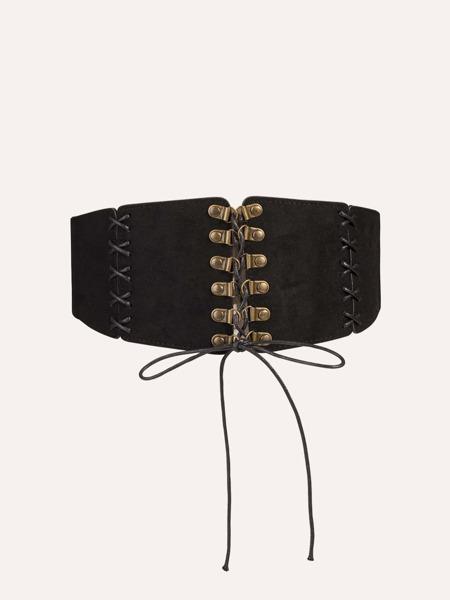 Lace-up Front Corset Belt