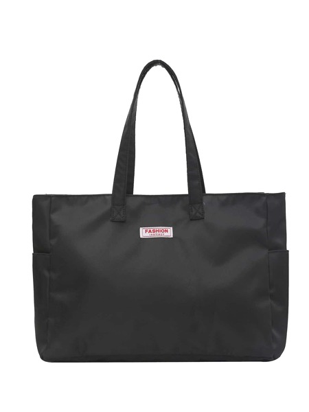 Letter Patch Large Capacity Tote Bag