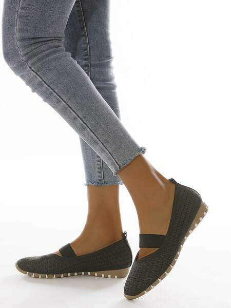 Hollow Out Espadrille Flats