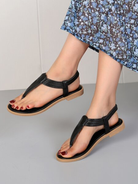 Minimalist Slingback Thong Sandals