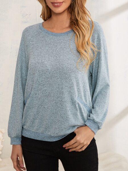 Raglan Sleeve Space Dye Sweatshirt