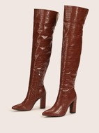 Solid Croc Embossed Classic Boots