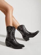 Stitch Detail Western Boots