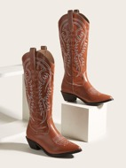 Solid Embroidery Design Western Boots