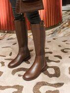 Minimalist Zip Back Knee Boots