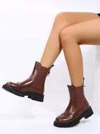 Wingtip Detail Slip On Chelsea Boots