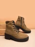 Minimalist Side Zipper Combat Boots