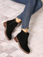 Suede Lace-up Front Boots