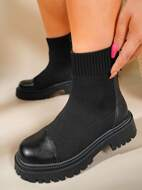 Minimalist Slip On Knit Boots