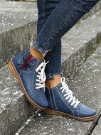 Lace Up Decor Side Zipper Fashion Boots