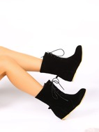 Minimalist Lace Up Front Classic Boots