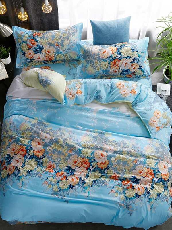 Комплект для кровати в цветочек