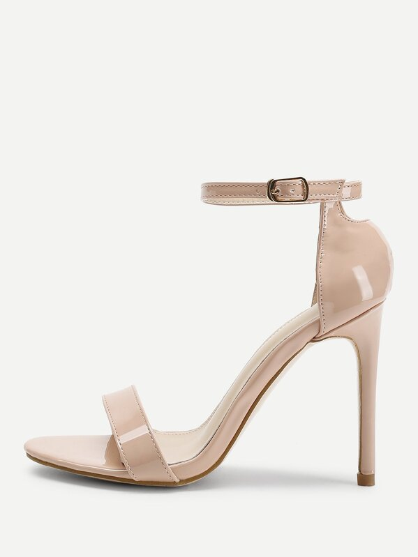 Two Part Ankle Strap Stiletto Heels, null