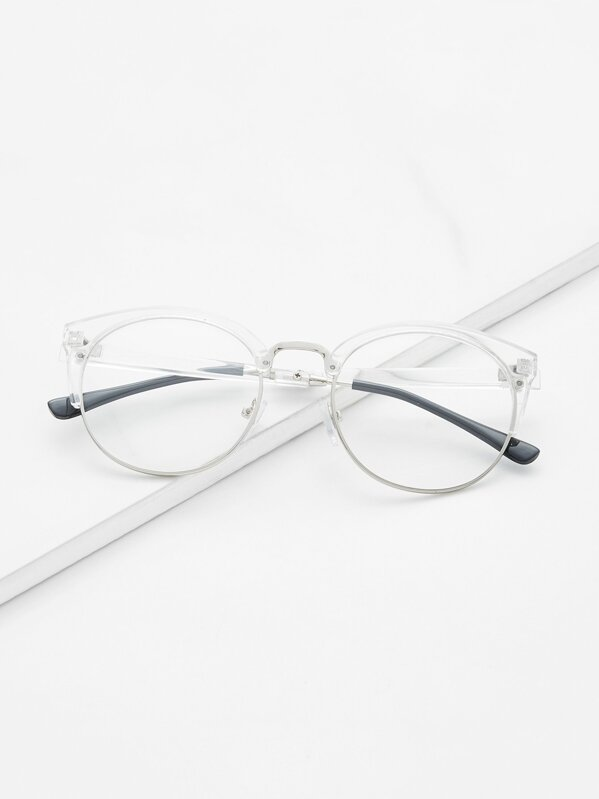 Clear Frame Glasses With Clear Lens, null