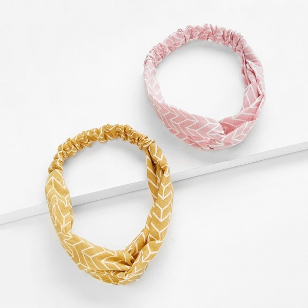 Twist Headband 2pcs, Multicolor