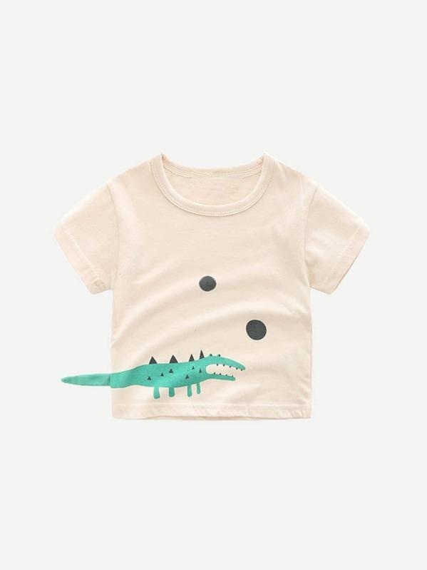 Футболка с принтом крокодила мультики для детей