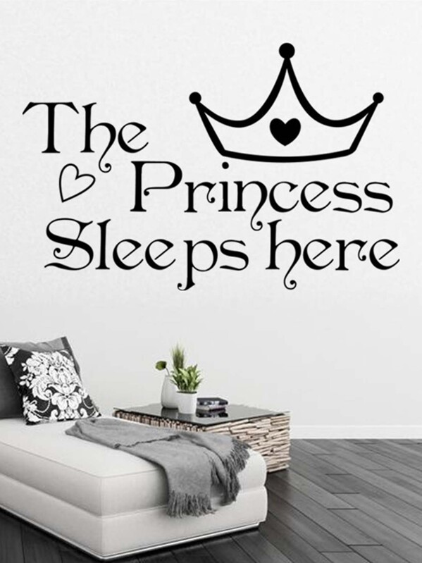 Crown & Slogan Wall Sticker