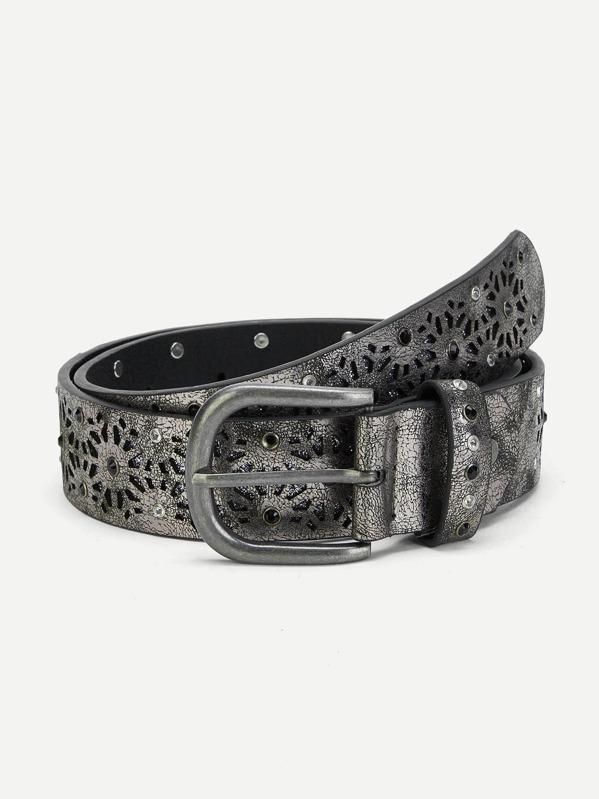 Hollow Out Metallic Belt, null