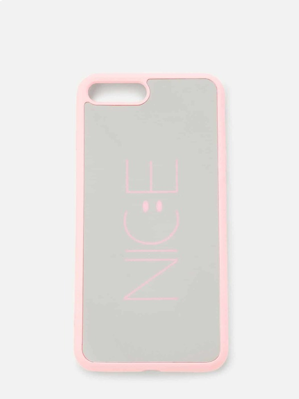 Slogan Silica Gel iPhone Case, null