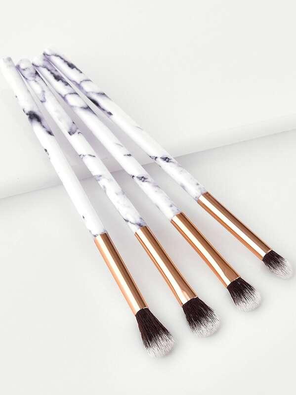 Marble Handle Makeup Brush 4pcs, null