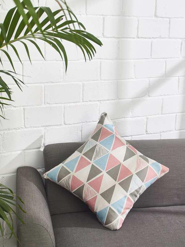 Allover Geometric Print Pillowcase