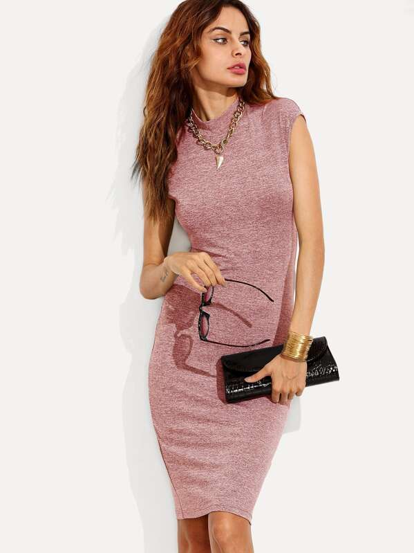 Form Fitting Marled Knit Dress, Andy