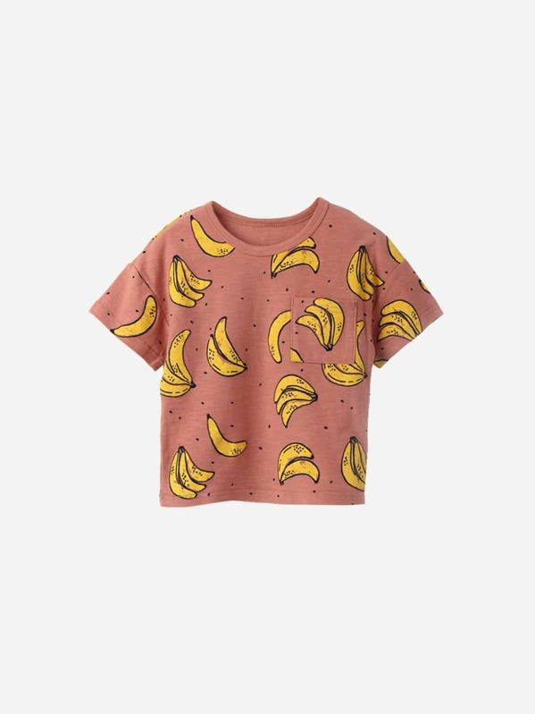 Футболка с принтом банана для детей