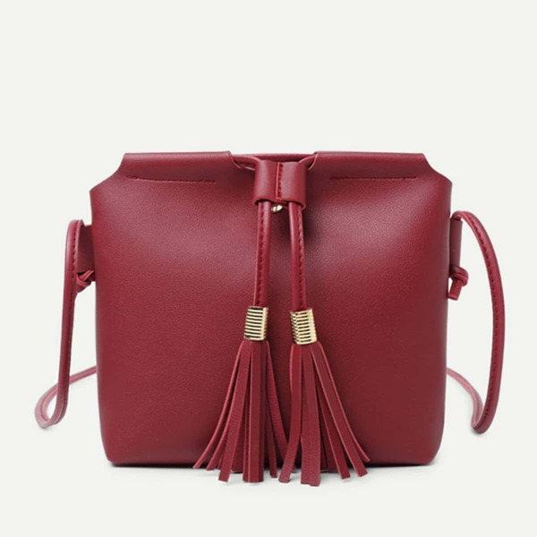 Tassel Detail Crossbody Bag