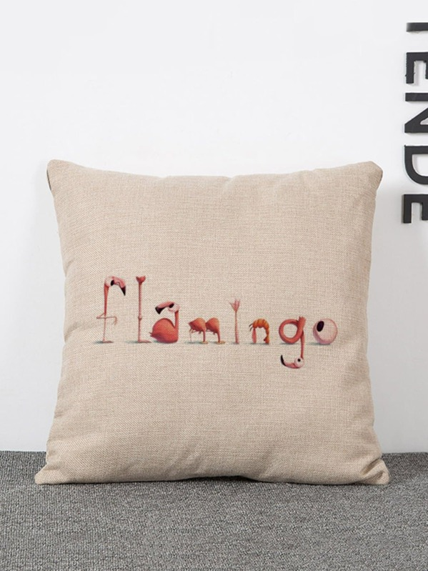 Flamingo Print Pillow Cover