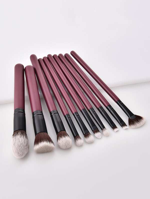Two Tone Handle Makeup Brush Set 10Pc, null