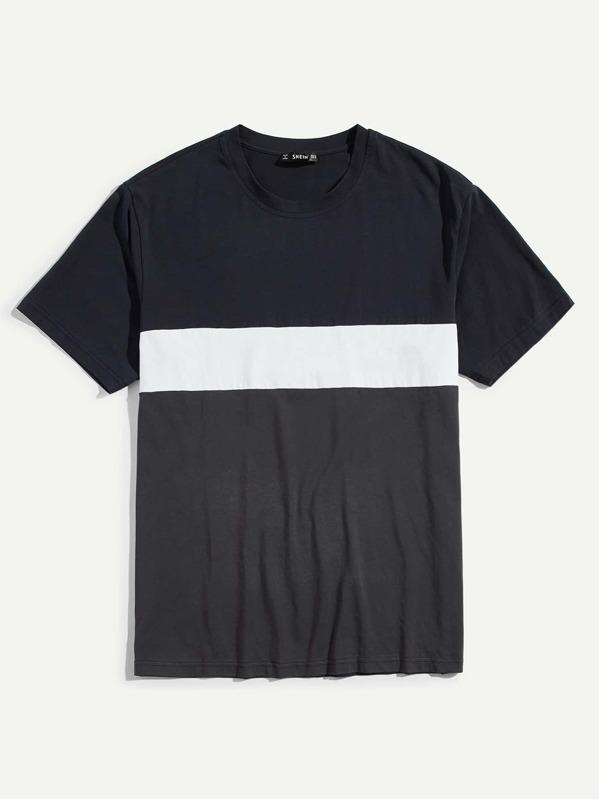 Men Cut and Sew T-shirt