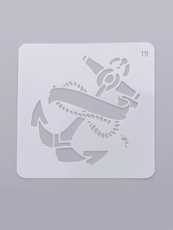 Anchor Drawing Stencil, null