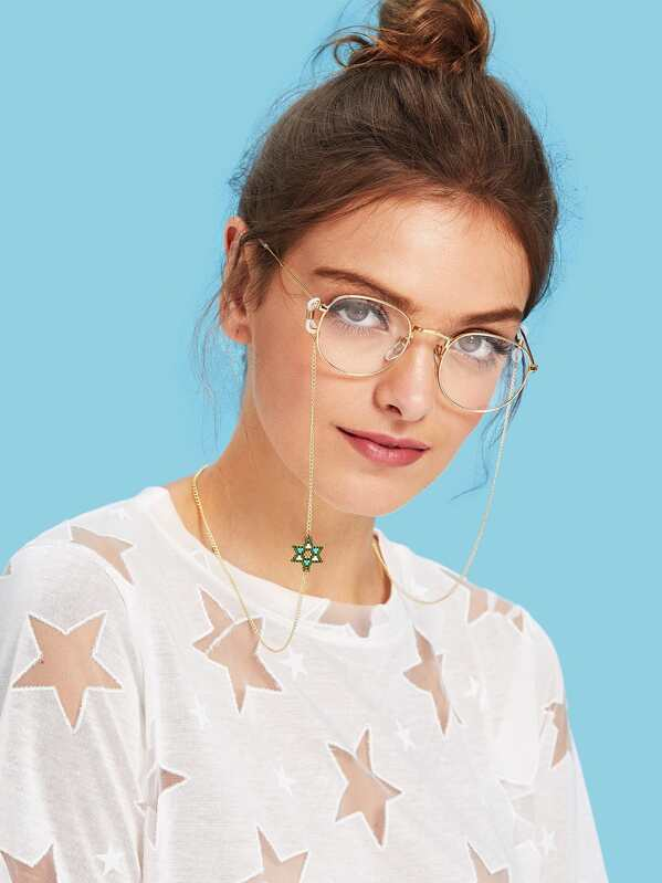 Beaded Star Decorated Glasses Chain