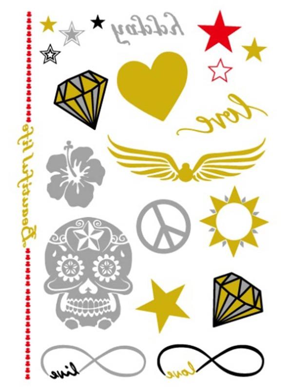 Heart & Skeleton Tattoo Sticker