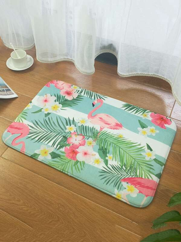 Flamingo Print Floor Mat