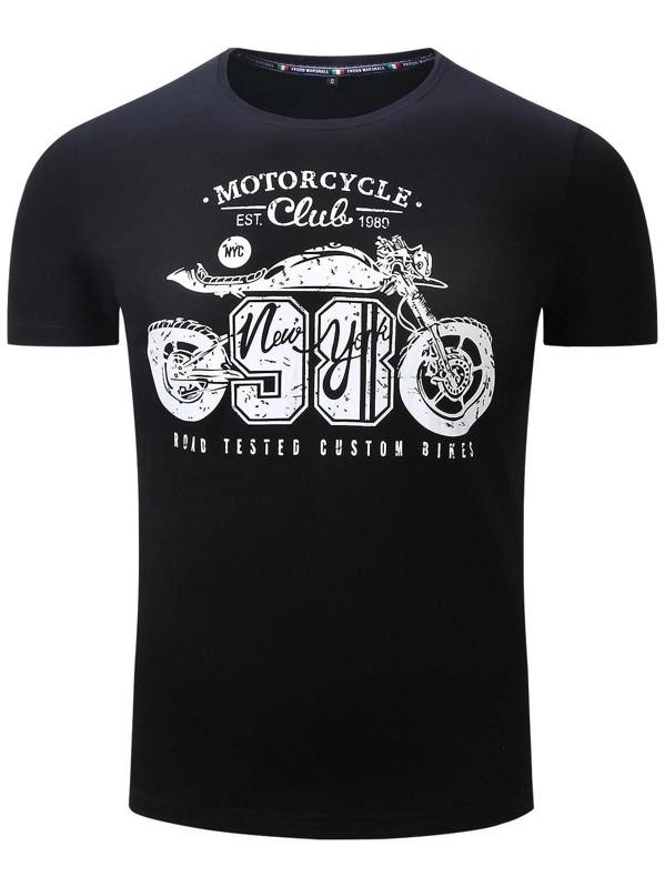 Men Letter Print T-shirt
