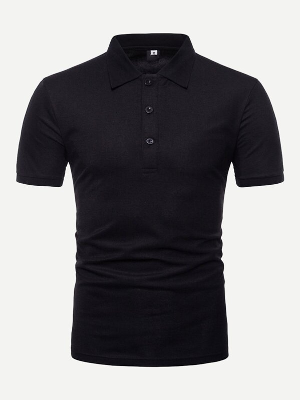 Men Tape Detail Solid Polo Shirt