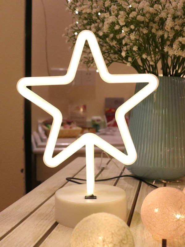 Neon Star Shaped Table Lamp