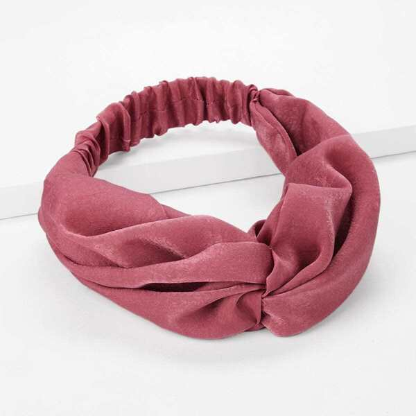 Plain Twist Headband, Red